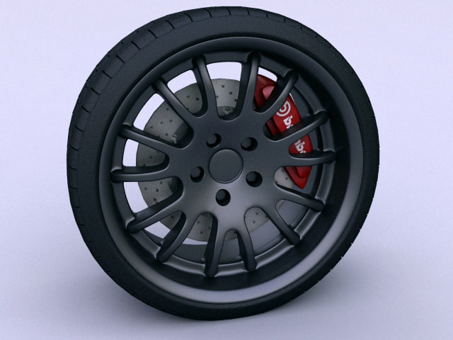 sport car wheel 3d model