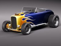 3d 32 custom oldtimer flame model