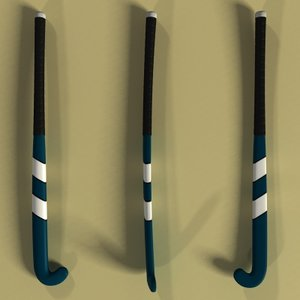 field hockey stick 3d model