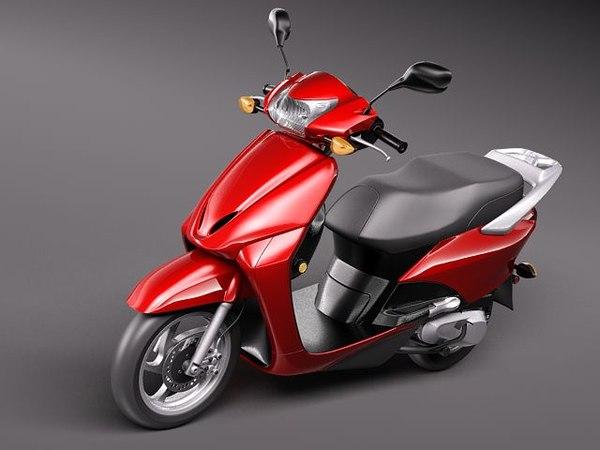 3d model honda elite 2010