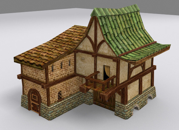 3ds max medieval fantasy country house