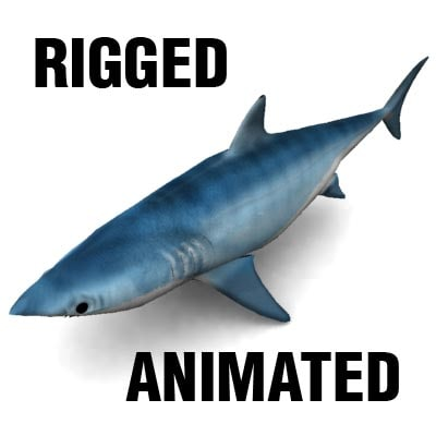 obj mako shark
