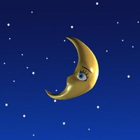 moon cartoon 3d model
