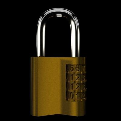 combination lock 3d model