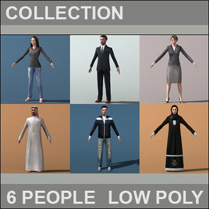 civilian characters individual 3d 3ds
