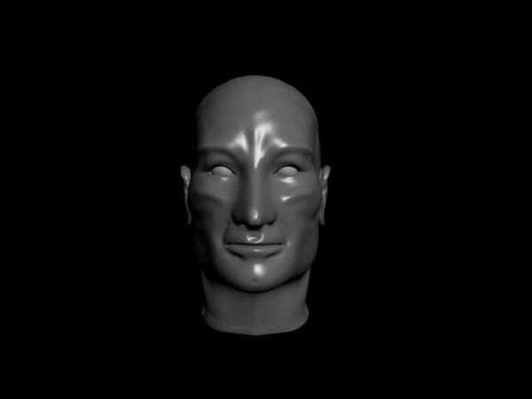 jean-luc head 3d model