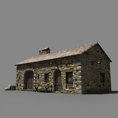 craftman hut 3d model