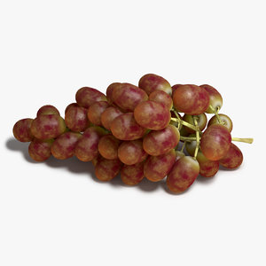 3d red grapes