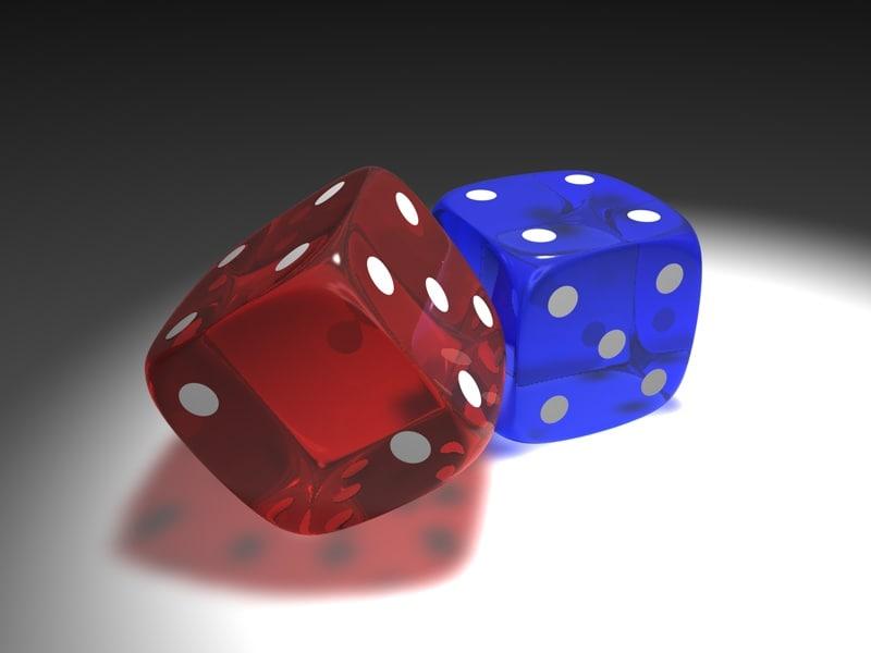 cube dice gaming 3d model