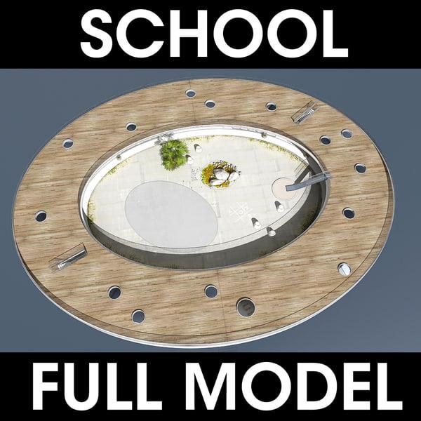school kindergarten 3d model