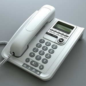 phone telephone 3d model