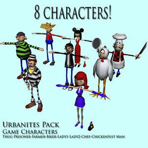 3ds max urban characters