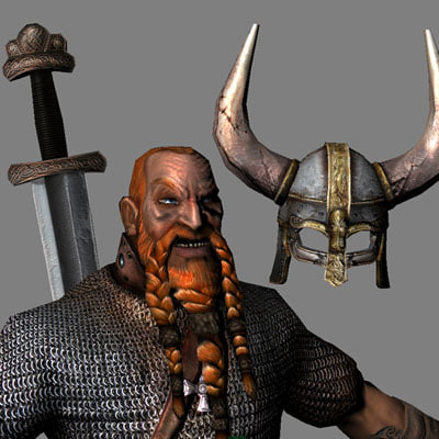 obj viking warrior historically
