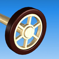 car cartoon wheel 3d model