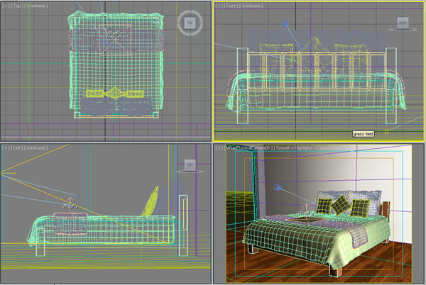 3d bed pillows throw