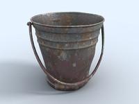 bucket rust garden 3d model
