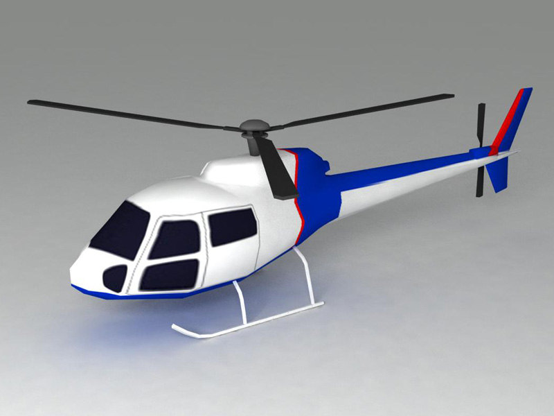 helicopter ready 3d model