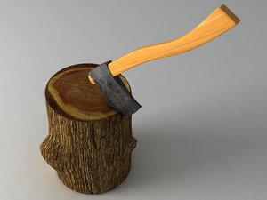 3d hatchet stump