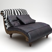 3d chair lounge settee