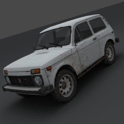 3d model lada 2121 niva