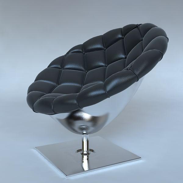 3d modern armchair interior model
