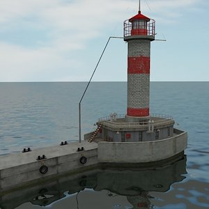 3d lighthouse light