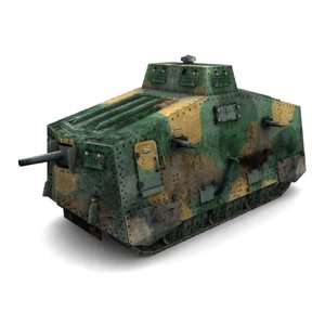 3d model sturmpanzerwagen a7v wotan