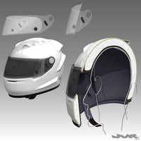 3ds racing car helmet cutaway