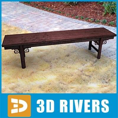 3d model antique chinese bench