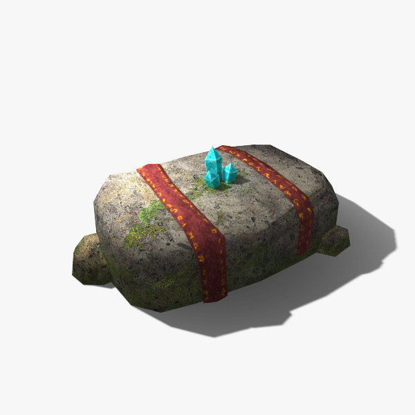 low-poly stone altar 3d model