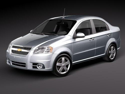 Chevrolet Aveo 3d Model