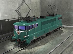sncf bb 9200 green 3d max