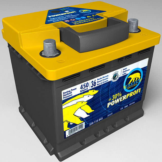 automotive battery 3d model