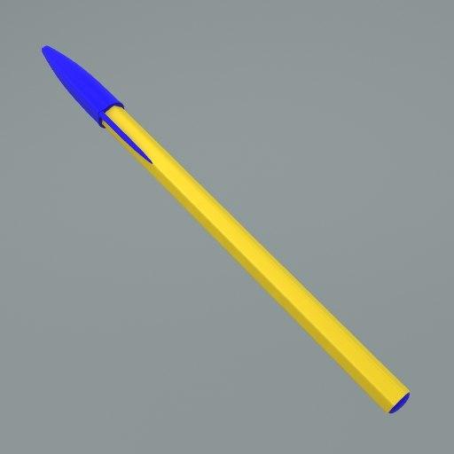 3d model of pen bic