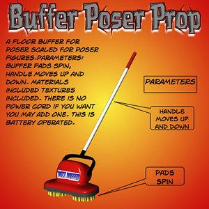 3d model buffer poser prop