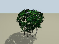 small bush 3d obj