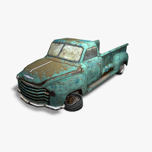 1950 chevrolet car games 3d model