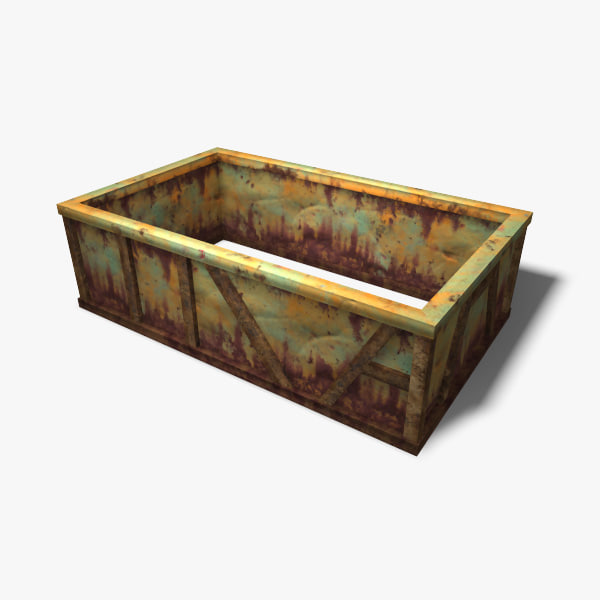 3ds max low-poly garbage container