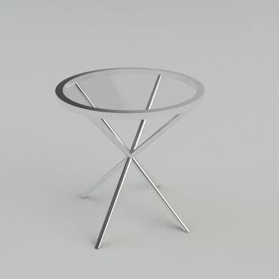 3d end table - materials model