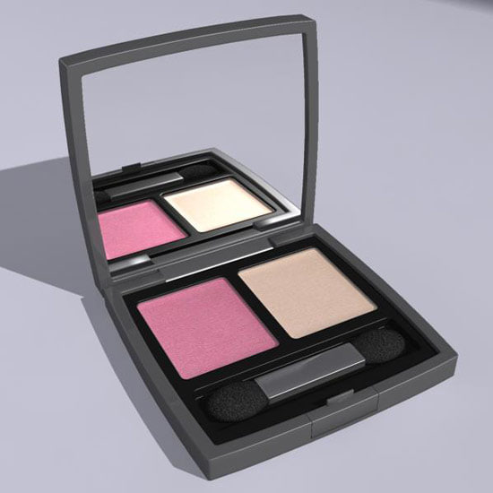 eyeshadow brush colors 3d model