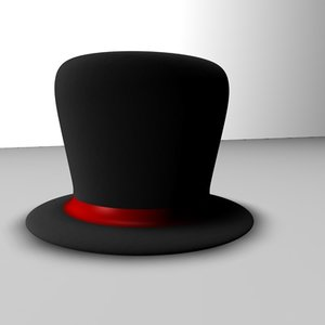 hat magic red 3d model