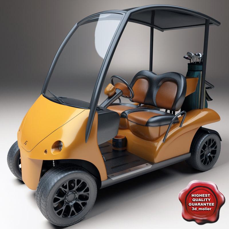 golf car garia v2 3d lwo