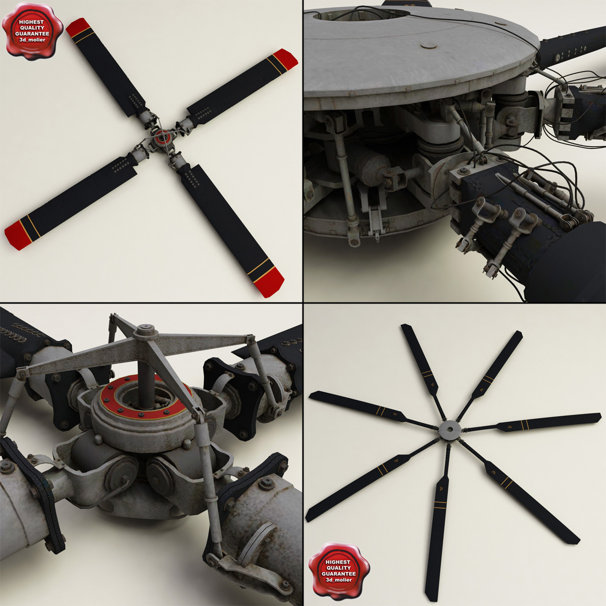 3ds helicopter propellers