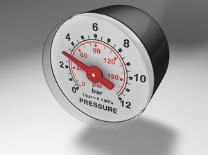 c4d manometer pressure gauge
