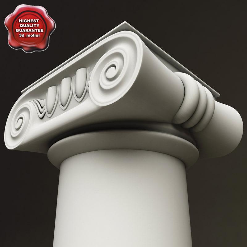 ionic order column 3d model