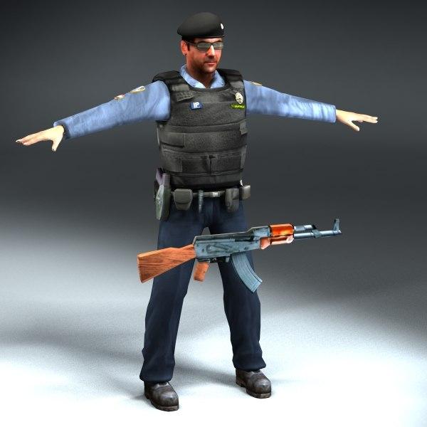 3d iraqi policeman