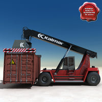 Kalmar Reach Stacker and Container