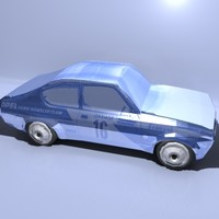 opel vauxhall kadett c 3d model