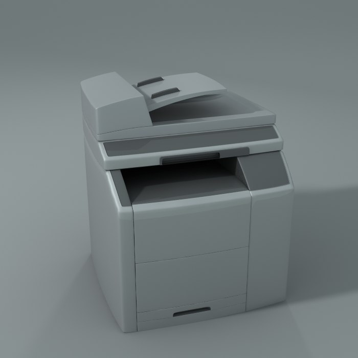 hp printer 3d model
