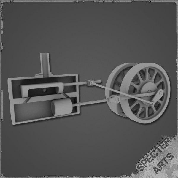 3ds cutaway steam engine simple